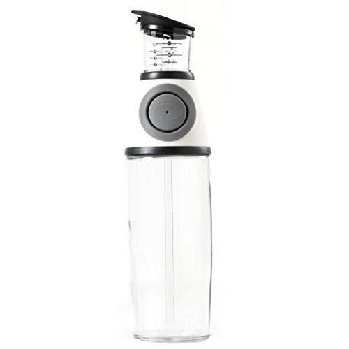 Botella De Aceite De Con Caño, 500 Ml Pulverizador Spray Oliva Aceite Portátil, Dispensador De Vinagre Y Aceite De Vidrio, A Prueba De Fugas Y Apto Para Lavavajillas,Blanco