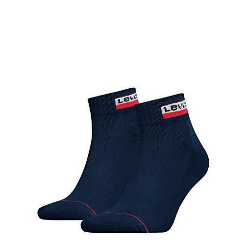 Levi's LEVIS 144NDL MID CUT SPRTWR LOGO 2P Socken, Herren, Blau 43/46 EU