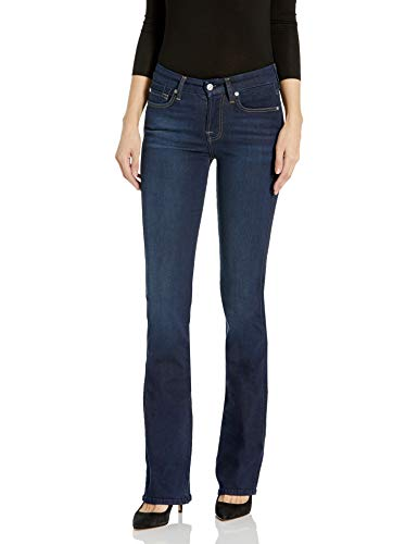 7 For All Mankind Women's Kimmie Bootcut Jean In Slim Illusion Luxe Dark Ink, Starlight, 30