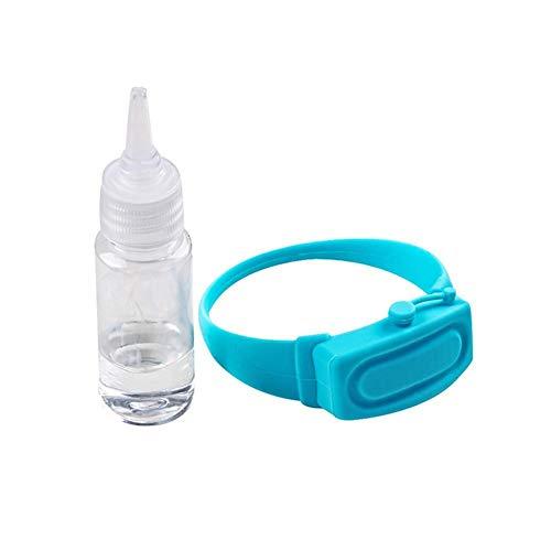 Dispensador de Mano de Pulsera de Silicona portátil, Pulsera de Gel de Silicona exprimible con Botella dispensadora para Adultos y niños, Lavado de Manos