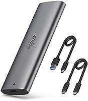 VIGOOLEツールフリー USB-C NVME M.2 SSDケース(PCI-E M Key)対応 USB 3.1 Gen2 10Gbps 外付けケース UASPサポート Trim指令 2242/2260/2280 SSD対応 M.2...
