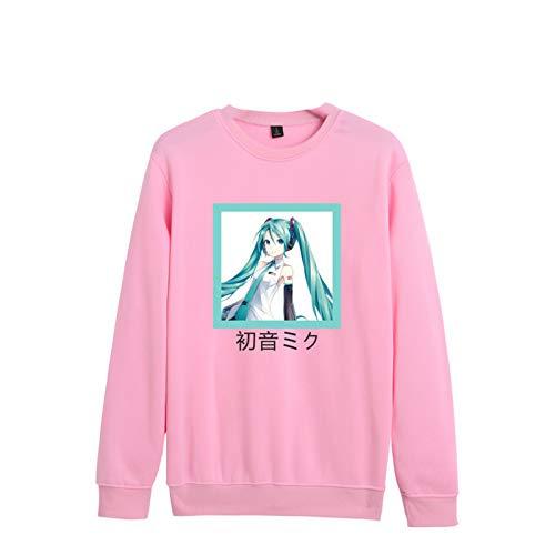 Anime Hatsune Miku Pullover Nueva Camisa gráfica Cosplay Disfraz de Manga Larga Sudadera Deportiva para Hombres y Mujeres