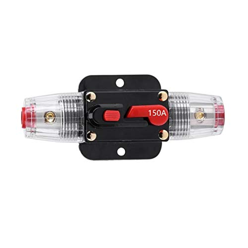 STETION Car Audio 150 Amp Resettable Fuse Circuit Breaker Car Protect for Audio System Fuse 12-24V DC for Car Audio Amps Overload Protection Fuse (150A)