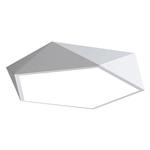Lámparas de techo rústicas Lámpara de techo moderna simple, lámpara de techo de la sala de estar individual del dormitorio, lámpara de techo creativa del diseño geométrico blanca Lámpara de techo Farm