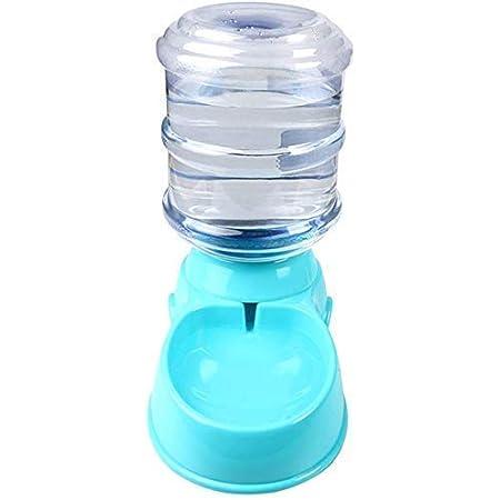 Lemish Press Pet Water Dispenser 3.8L Large Capacity Self-Dispensing Gravity Pet Feeder Waterer Cat Dog Feeding Bowl Drinking Water/Press Feeding Pet Supplies