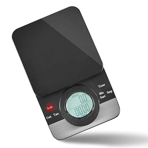 Kapazität 3 kg handgemachter Kaffee Elektronische Waage Chronograph Waage Countdown Backwarenwaage Präzision 0,1 g Riegelwaage mit Hot Pad Küchenwaage