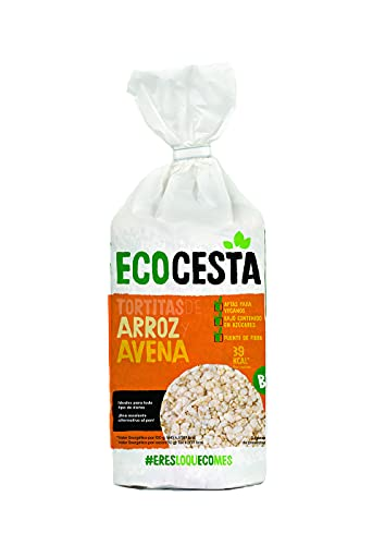 Ecocesta Tortitas Ecológicas de Arroz y Avena Aptas para Veganos (1 x 115g)