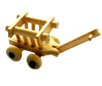 Miniatur Leiterwagen, 4cm [Spielzeug]
