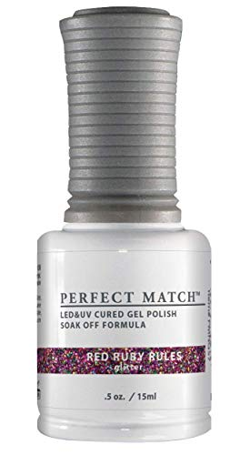 LECHAT Perfect Match Nail Polish, Red Ruby Rules, 0.500 Ounce