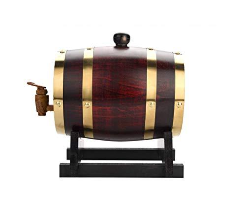Accesorios Para Vino Barril de vino de roble, 1.5L, 3L, 5L, 10L Durable Madera vintage Barril de vino Dispensador de vino con, Usado para Cubo de almacenamiento Barriles de cerveza para Barril de enve