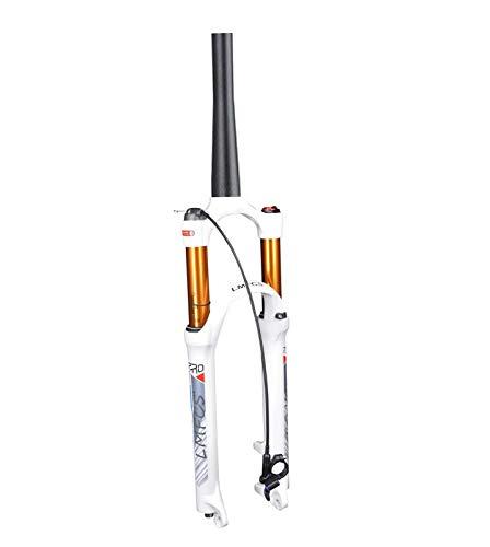 ZHTY 26/27.5/29'MTB Suspensión neumática Horquilla para Bicicleta Tubo cónico 39.8 mm QR 9 mm Viaje 105 mm Horquilla de Bloqueo de Corona Ultraligero Shock XC/Am Bicicleta Horquilla de suspensión p