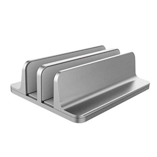 DaMohony Tablet Stand, Verticale 2 Slot Laptop Stand Boekenplank Aluminium Houder Ondersteuning Beugel voor Notebook Tablets
