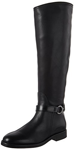 Marc O'Polo Damen Flat Heel Long Boot 70814228002124 Reitstiefel, Schwarz (Black), 39 EU