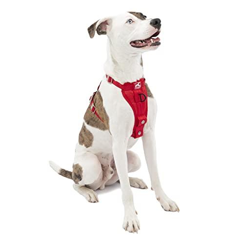 Kurgo Dog Harness   Car Harness for Dogs   Medium   RedPet Safety Seat Belt   Certified Crash Tested Harness   Car Seatbelt   Tru-Fit Enhanced Strength Style