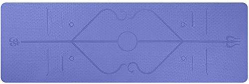 NDYD Colinas de Yoga Línea de Cuerpo Antideslizante Protección Ambiental Aptitud Suave Apto para Acampada al Aire Libre de Fitness, 183 Veces;61cm (Color: Púrpura) DSB (Color : Purple)