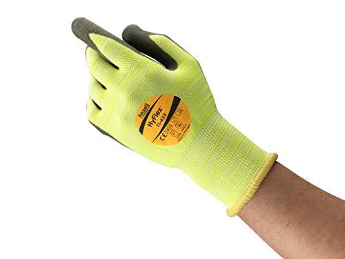 Ansell HyFlex 11-423 Schnittschutz-Handschuhe, Mechanikschutz, Grau, Größe 8 (12 Paar pro Beutel)