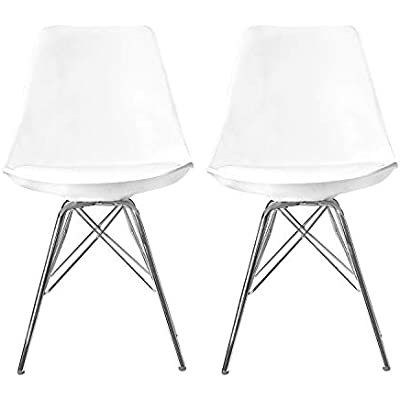 Admirable Cheap Elightry Lorenzo Tulip Chairs Kitchen Dining Machost Co Dining Chair Design Ideas Machostcouk