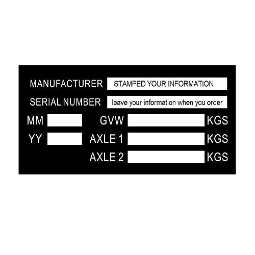 Placa de peso con sello VIN-Chasis con placa de remolque con placa de peso para planta de coche inteligente