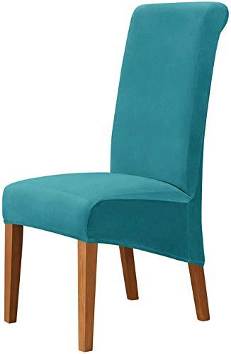 Mazu Homee Samtbezug für Esszimmerstühle, weich, einziehbar, abnehmbarer und waschbarer Stuhlbezug