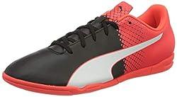 Puma Evospeed 5.5 It Men's Football Boots, Black (Black / White / Red blast 01), 44.5 EU
