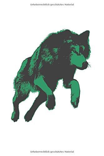 Wolf Motiv Camping Tagebuch: Notizbuch A5 120 Seiten liniert