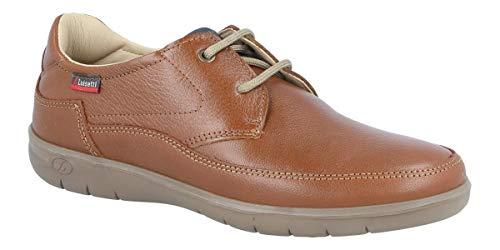 Zapato de Cordones, un Modelo Ligero, Flexible y Muy Fresco. LUISETTI Zapato Colton 32303NA Talla 43 Color COÑAC