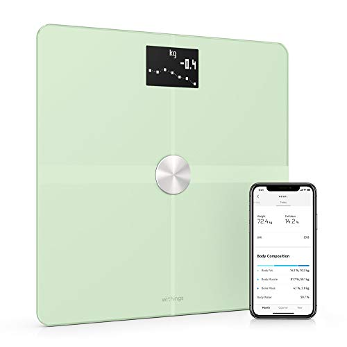 Withings/Nokia Body+ - Báscula Wifi de composición corporal, Verde pastel