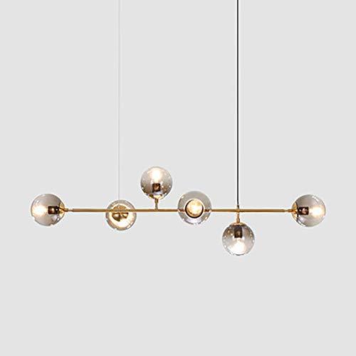 SELMAL Lampadari in Metallo, Lampadari a Sfera in Vetro a Bolle per Soggiorno e Sala da Pranzo Camera da Letto 6 Testa Luminosa 47 × 17 Pollici