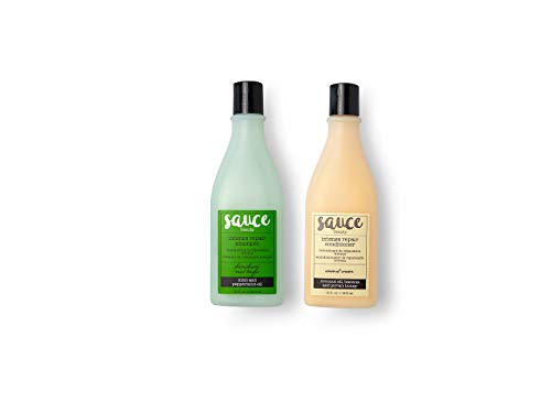 Sauce Beauty Sulfate Free Shampoo and Conditioner Set – Mint Tingle Shampoo and Coconut Cream Conditioner with Argan Oil Repairs and Strengthens Dry, Damaged Hair - Safe for Color Treated Hair