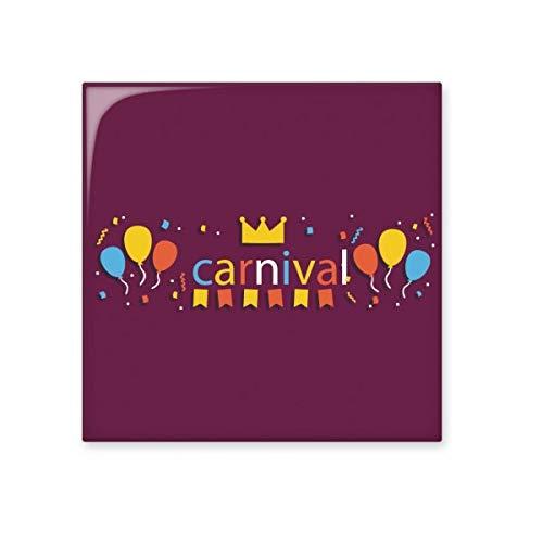 Globo corona feliz carnaval de Venice brillante azulejo de cerámica para baño cocina pared piedra decoración manualidades regalo