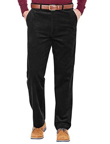 Pantalones De Pana con Cintura Elástica para Hombre Negro 58W / 31L