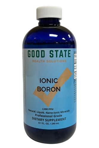 Good State -Liquid Ionic Minerals Boron (96 Days At 5mg. - Plus 2 Mg Fulvic Acid)