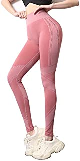 Seamless Yoga Pants Tummy Control Sport Fitness Leggings Stretch Workout Trousers Pink Yoga Leggings Push Up Pants Trousers