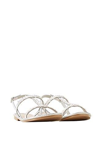 ESPRIT Damen Sandaletten 048EK1W019-090 weiß 456915