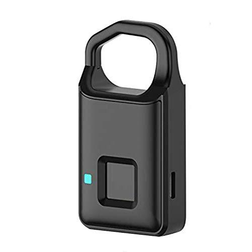 M3M Fingerprint Padlock–Smart IP65 Waterproof Keyless Biometric Lock Gym,Locker,Door,Backpack,Luggage,Suitcase,Bike,Office, USB Charging