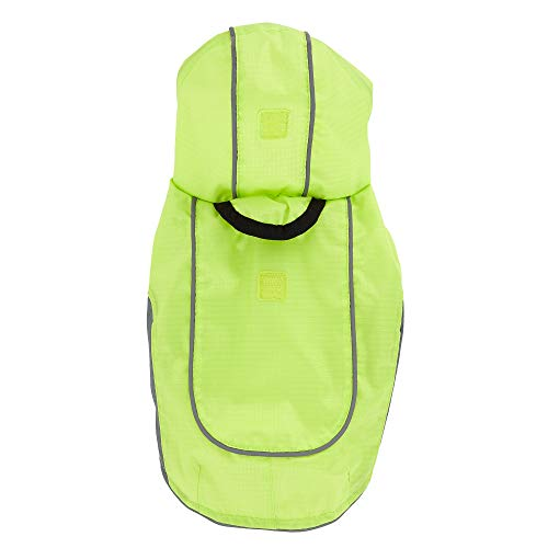 TOP PAW Reflective Lime Green Dog Raincoat~X-Small~