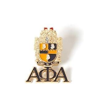 Alpha Phi Alpha Shield Sandblasted Cuff Links w...