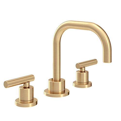 Symmons SLW-3512-BBZ-1.0 Dia Widespread 2-Handle Bathroom Faucet with Drain Assembly in Brushed Bronze (1.0 GPM)