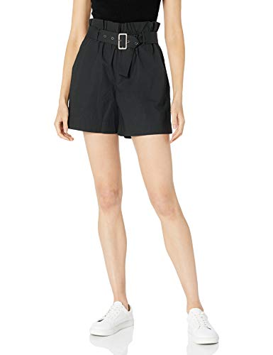 The Drop Womens Alicia Loose Paperbag Belted Poplin Short