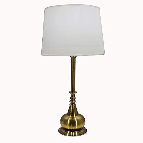Lámpara Escritorio Lámpara de mesa, lámpara de noche para dormitorio, lámpara de mesa decorativa de porche de sala de estar creativa, lámpara de lectura de estudio, lámpara de mesa grande (tornillo )