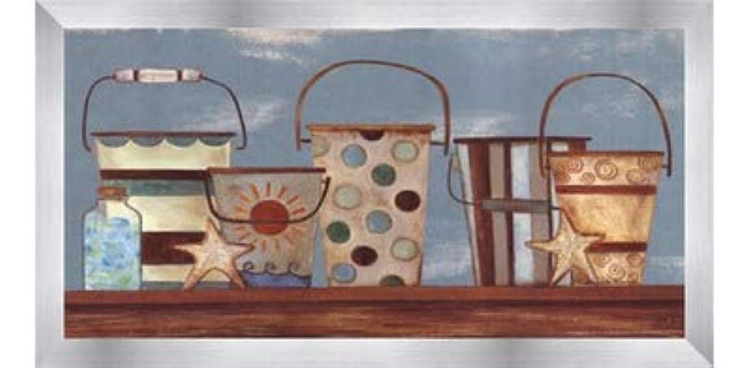 関与する有名人申し込むVintage Beach Pails I by Bernadette Deming?–?16?x 8インチ?–?アートプリントポスター LE_613826-F9935-16x8