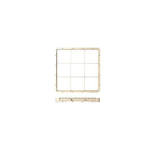H & H Pengo 2560309 wasmand, 9 stuks, wit, 50 x 5 x 50 cm