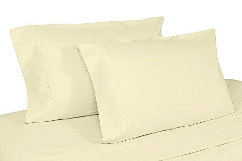 Whisper Organics 100% Organic Cotton Pillow Case Set, 500 Thread Count - GOTS Certified (Queen, Natural)