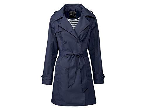 Esmara Damen Regen Trenchcoat Regenmantel Regenjacke Wasserdicht Navy 36