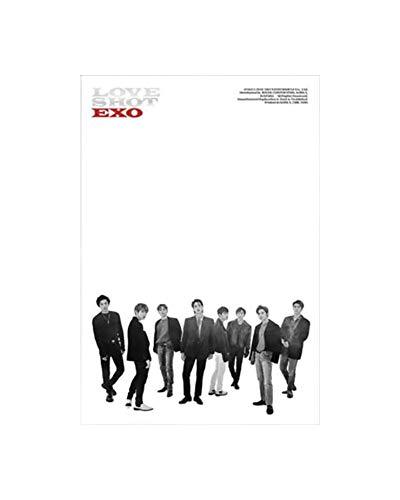 SM Entertainment Exo The 5th Repackage Album Love Shot Reissue - Álbum de fotos (versión de disparo), CD + libro + tarjeta de fotos