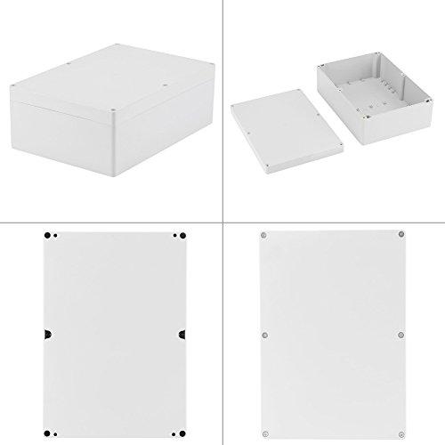 BOLORAMO Caja de Conexiones de plástico, Carcasa de Proyecto de Carcasa IP65 263 × 185 × 95 mm Caja de Conexiones de Bricolaje con 6 Tornillos para Carcasa de Productos electrónicos