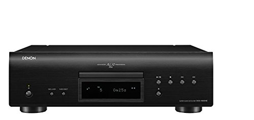 Denon DCD-1600NE HiFi CD player Negro - Unidad de CD (32-bit/192kHz, 119 dB, 0,001%, 112 dB, 2-50000 Hz, CD de audio, DVD-Audio)