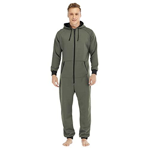 BIBOKAOKE Mono para hombre con capucha para correr, chándal, cómodo chándal para el hogar, informal, deporte, ocio, pijama.