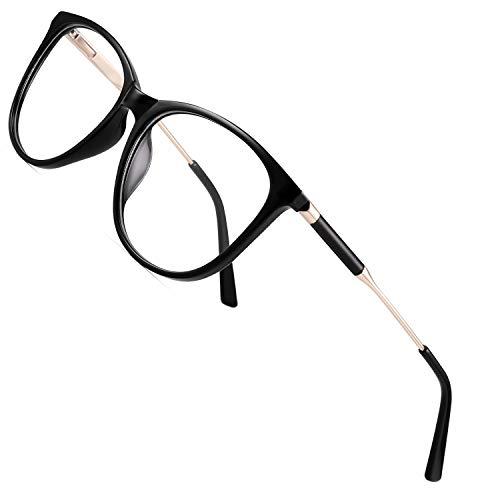 Ruixfpu Bequeme Blaulicht-Brille, große, runde Computer-Brille, blendfreie Augenbelastung, Kopfschmerzen, übergroße Anti-Blaulicht-Brille, leicht, 1