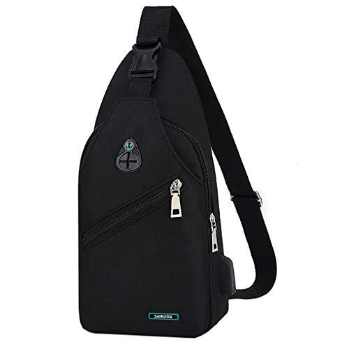 Brusttasche für Herren/Skxinn Umhängetasche Schultertasche Cross Bag Schleuder Tasche Sling Rucksack Multipurpose Daypack,Outdoor Sport Running Casual Umhängetasche(A-1)